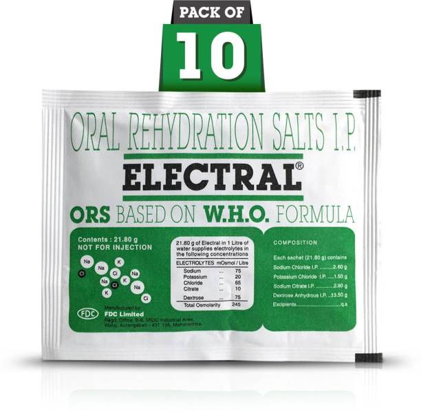 Electral Powder 21.8 gm (Pack of 10) Energy Drink