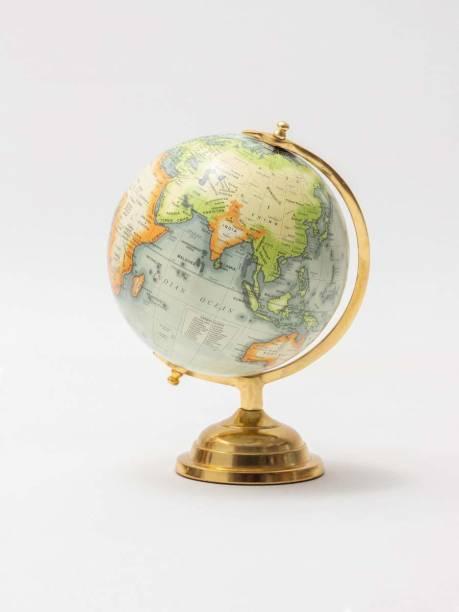 "CASA DECOR World Globe for Home & Office Decor | 8"" Desktop Globe with Metal Stand Desk & Table Top World Globe World Globe"