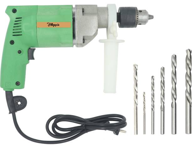 Hillgrove Multi-Purpose Impact Drill Machine with 6 Drill Bits for Making Holes in Metal/Wood/Concrete Hammer Drill