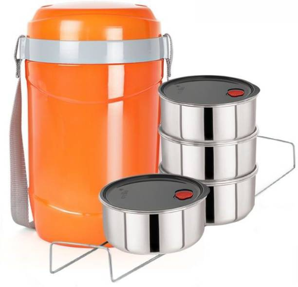cello Hot Express insulated lunchbox 4 container orange 4 Containers Lunch Box