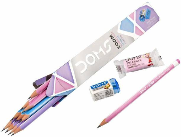 DOMS Zoom Ultimate Dark Triangle Pencils - Pack of 5 (10 Pencils in each pack) Pencil