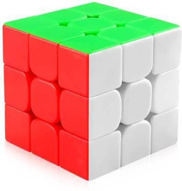 Bramahni Enterprise cube 3x3 cube high speed stickerless magic rubix cube 3x3 brainstorming puzzle cube 3x3 game toy (1 Pieces)