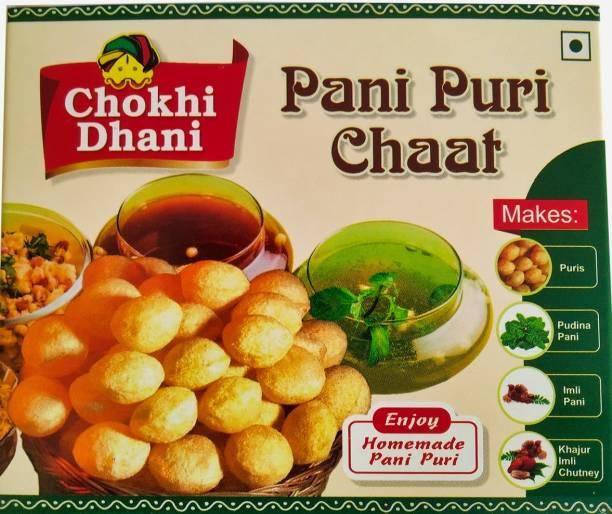 Chokhi Dhani Foods Tasty Pani Puri Ready to Eat Pack Make Pani Puru at Home Dilli Aloo Chaat