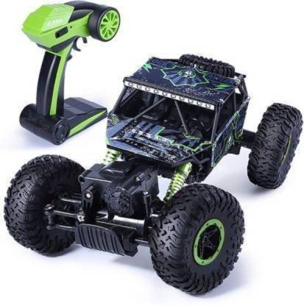 Miss & Chief Waterproof Remote Controlled Rock Crawler RC Monster Truck, 4 Wheel Drive, 1:18 Scale