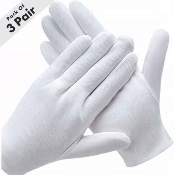 Rai Cotton Hand Gloves Pack of 3 Inner Gloves