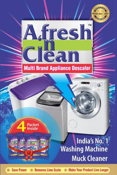 Afresh n Clean descale powder for all brands of washing machines and dishwashers (4 pack) Detergent Powder 401 g