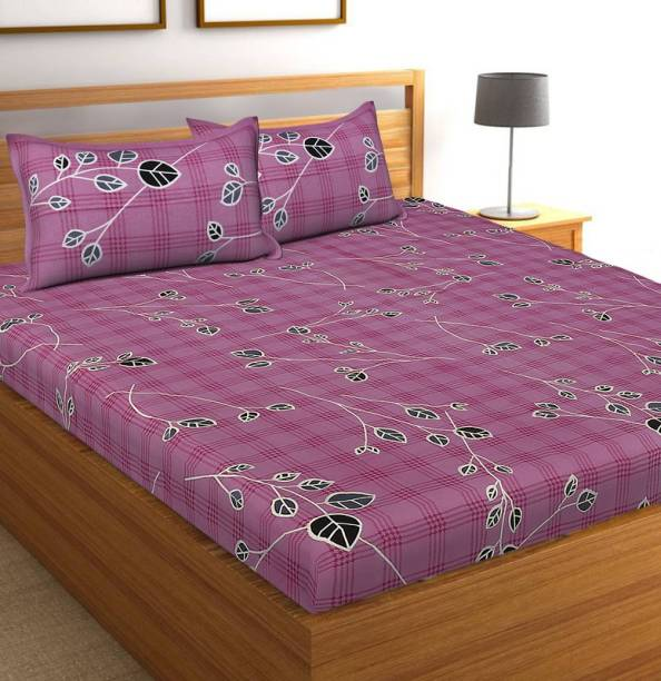BEDAFFAIR 144 TC Cotton Double King Printed Bedsheet