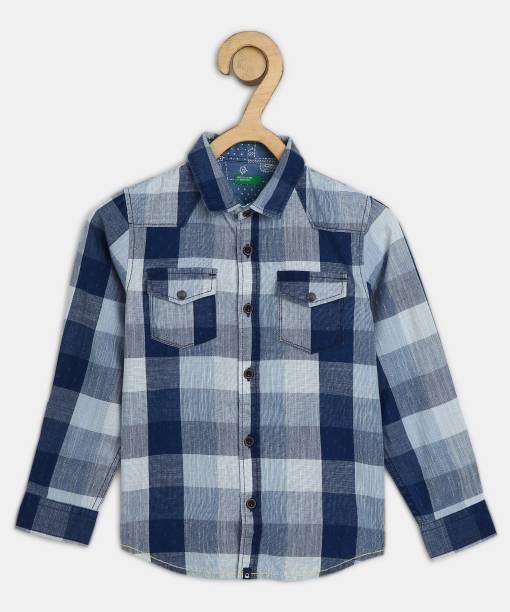 United Colors of Benetton. Baby Boys Checkered Casual Multicolor Shirt