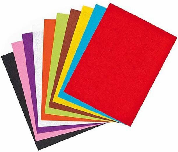 KALBI A4 Glitter EVA Foam Sheet (10 Sheets Shiny & Glittery Multicolored Color)