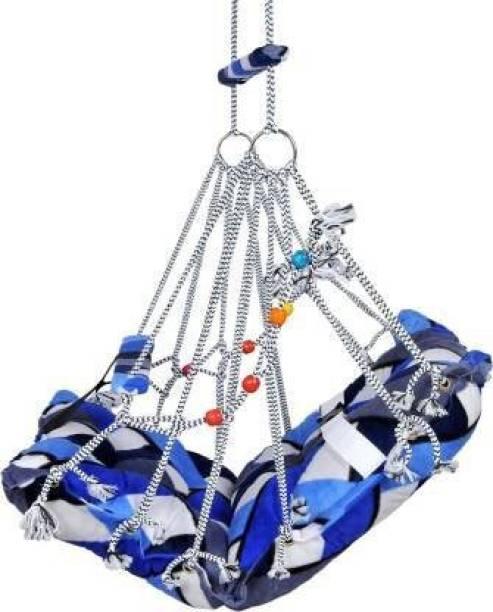 baluda Cotton Hanging Swing Kids Folding & Washable Jula Swings (Multicolor) Swings Swings