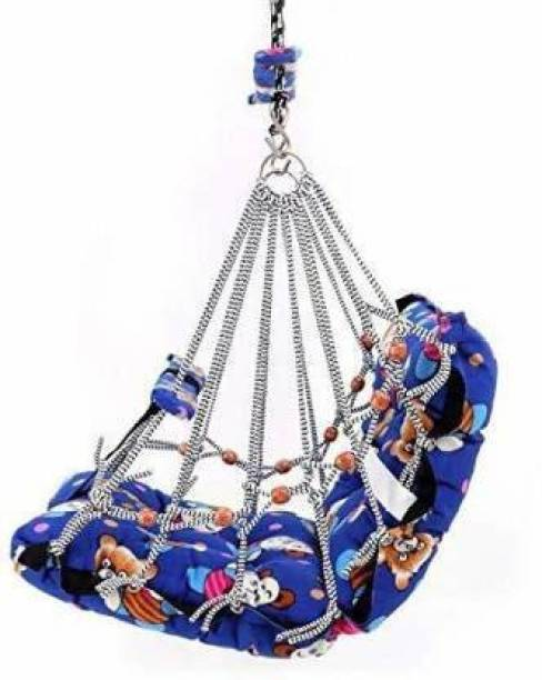 Rixim Comfortable Cotton Baby Swing for Kids/Babies up to 15KG with safety belt