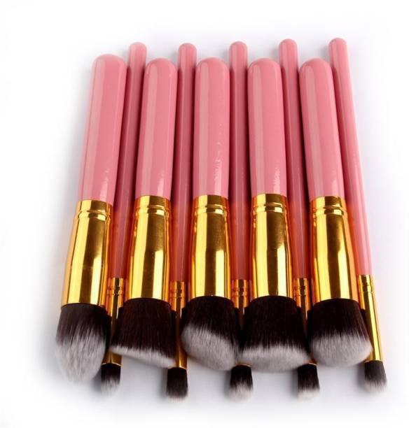 BELLA HARARO Premium Pink Makeup Brushes (Pack of 10)