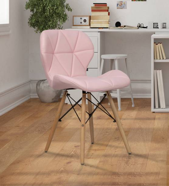 Finch Fox Eames Replica Ormond Iconic Chair in Pink Color Engineered Wood Dining Chair