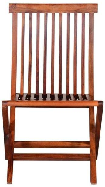 Woodware Sheesham Wood Pre Assemble Comfortable Folding Chair for Garden and Outdoor Living Room (Natural Finish) Solid Wood Living Room Chair