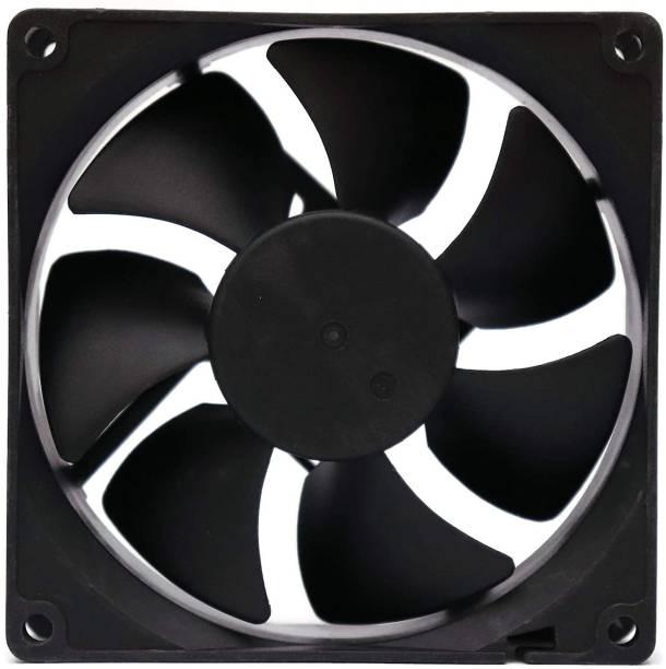 DLEIN DC FAN 12V 0.16A 3.54 Inch X 90mm Cooling Fan for PC Case CPU Cooler Radiator Fan (1-PCS) Cooler (Black) Cooling Pad