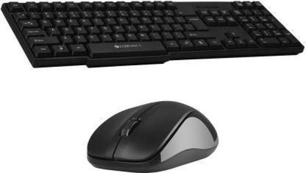 ZEBRONICS Companion 102 Wireless Keyboard and Mouse Combo with Rupee Key Wireless Laptop Keyboard