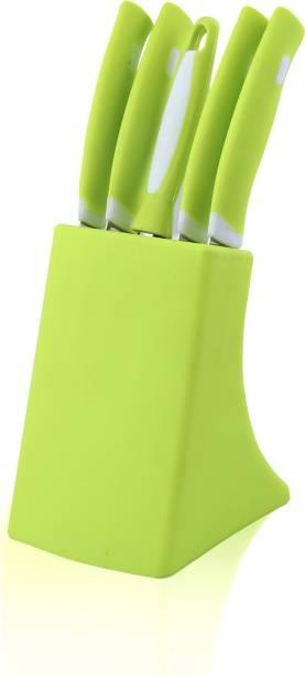 EXODUS Knife Set Of 6 Pieces ,Stainless Steel Kitchen Tool Kitchen Knife Set With Peeler Stainless Steel, Plastic Knife Set
