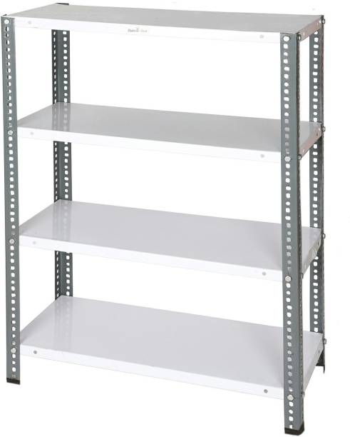 Babbar steel Multipurpose Storage Rack for Shoes, Clothes, Books ad Utility 24 Gauge (Color-Grey) Luggage Rack
