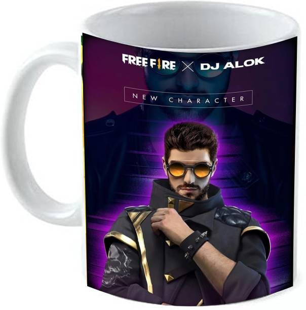 GTMP Free Fire DJ Alok KIDM043 Ceramic Coffee Mug