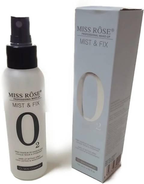 MISS ROSE Mist & Fix O2 Make-Up Setting Spray Long Lasting & Moisturising Primer - 120 ml (Transparent) Primer  - 120 ml
