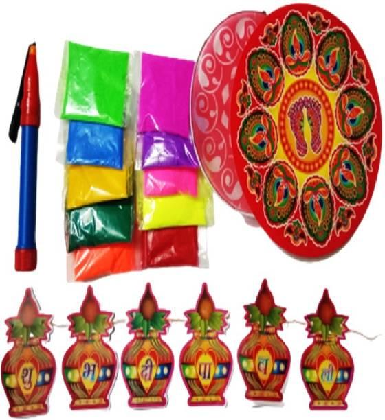 HODM Pack of 10 Rangoli Powder