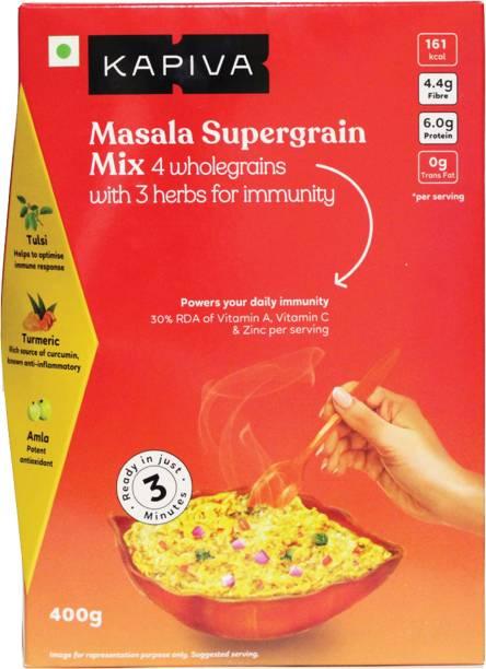 Kapiva Masala Supergrain Mix 400g , Oats, Ragi, Green Gram, Amaranth Boosts Immunity , Instant Meal 400 g