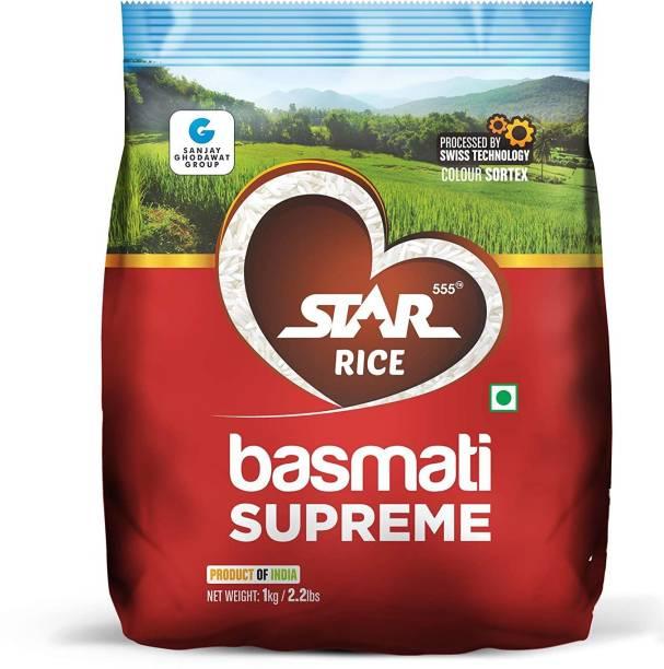 STAR 555 Basmati Supreme, 1 Kg Basmati Rice (Long Grain, Raw)