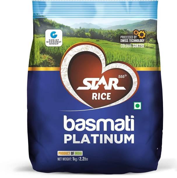 STAR 555 Basmati Platinum, 1 Kg Basmati Rice (Long Grain, Raw)