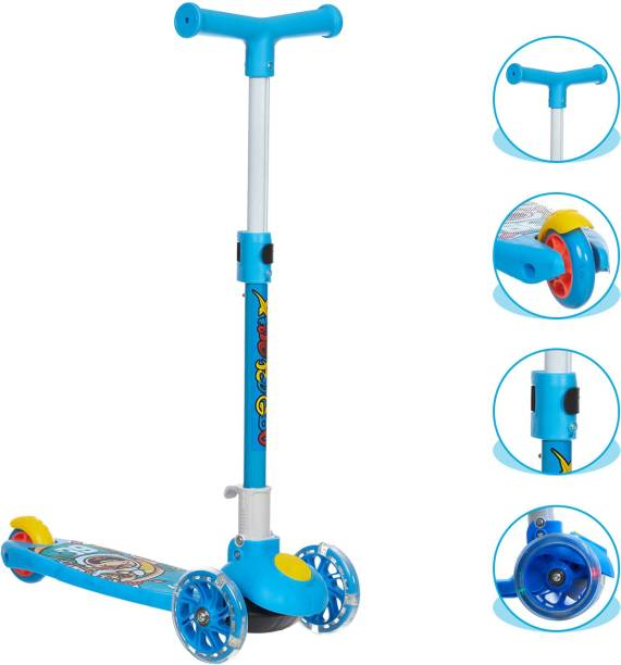 NHR Smart Kick Scooter, 3 Adjustable Height, Foldable,Front Wheel light & PVC Wheels (3 to 8 Years Kids) Kids Scooter