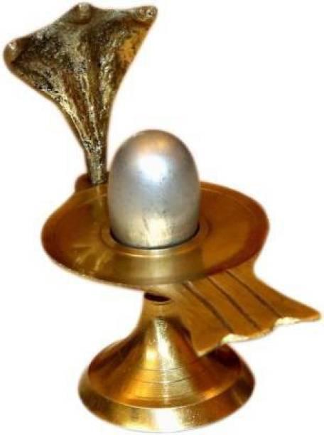 Shiv Narmadeshwar Shiva Ling Parad Decorative Showpiece  -  8.7 cm