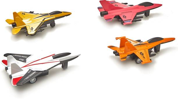 Miss & Chief PULL BACK DIE-CAST FIGHTER PLANE