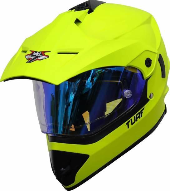 Steelbird Off Road Motocross Helmet in Matt Fluo Neon Motorbike Helmet