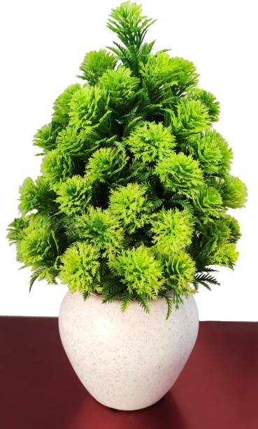 BK Mart Great For Home/Shop/Office Table Decoration or Gift Table Flower Pot Bonsai Wild Artificial Plant  with Pot