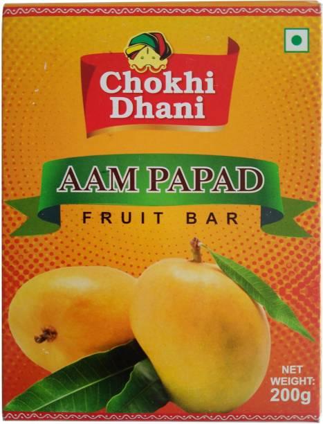Chokhi Dhani Foods Khatta Meetha Aam Papad (Mango Jelly) - 200 gm Mango Jelly Candy