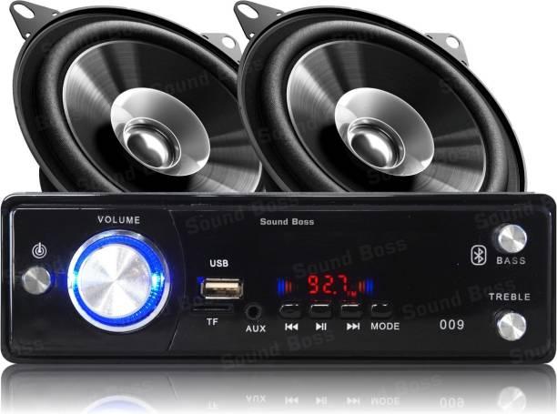 "Sound Boss BLUETOOTH/USB/SD/AUX/FM/MP3 Car Stereo + Dashboard 4"" Dual Performance Auditor 200W MAX B1015 Coaxial Car Speaker Car Stereo"