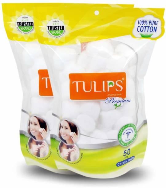 Tulips Premium Cotton Balls For Removing Nail Polish // Make Up // Applying Powder, Bronzer and Blush