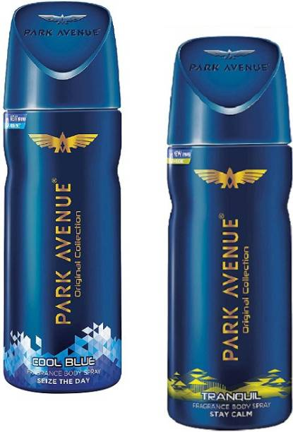 PARK AVENUE Cool Blue + Tranquil Body Spray 150ml-2Pcs BU03 Body Spray  -  For Men