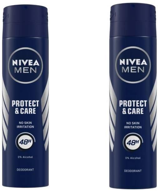 NIVEA Protect & Care Deodorant Spray  -  For Men