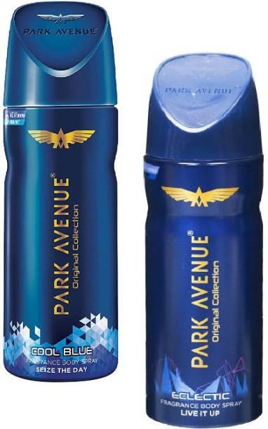 PARK AVENUE Cool Blue + Eclectic Body Spray 150ml-2Pcs MK06 Body Spray  -  For Men