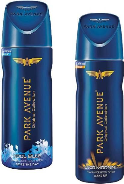 PARK AVENUE Cool Blue + Morning (Wake up) Body Spray 150ml-2Pcs Z09 Body Spray  -  For Men