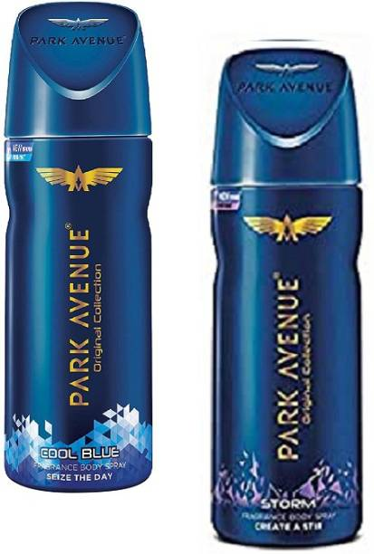PARK AVENUE Cool Blue + Storm Body Spray 150ml-2Pcs AL05 Body Spray  -  For Men