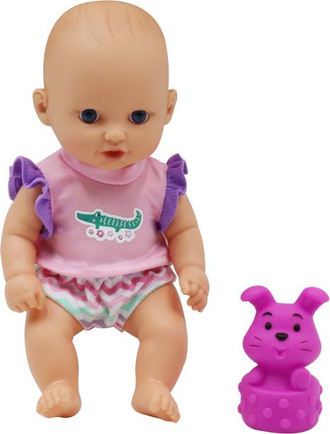 Miss & Chief 10 Inch Premium Baby Doll with Bath Squiter, Extreme fun to play with Kids