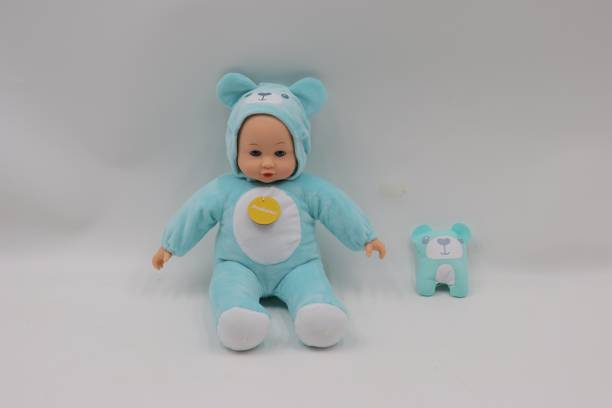 Miss & Chief 14 Inch Premium Quality Baby Doll with Animal Costume and Baby Sound, Extreme fun for kids