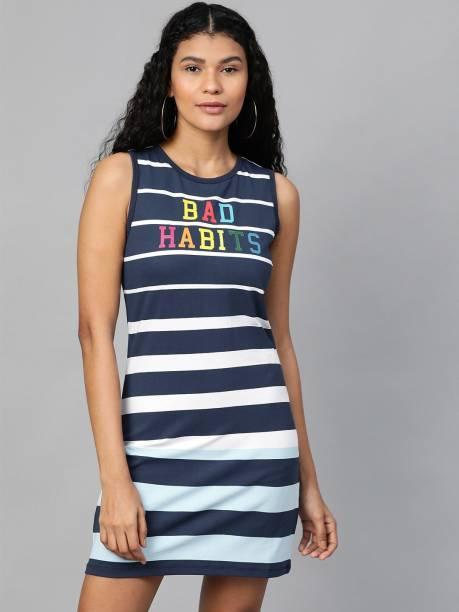 KOOK N KEECH Women T Shirt Dark Blue Dress