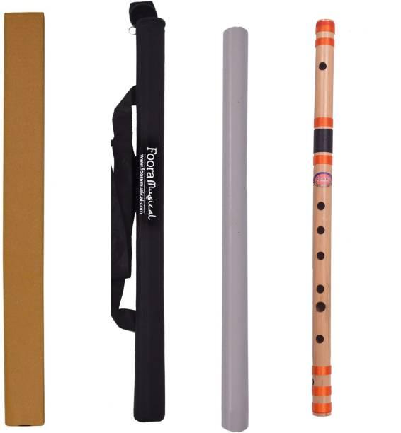 Foora Musical C Sharp Medium Right Hand Bansuri -Size 18 inches FREE BEG Bamboo Flute