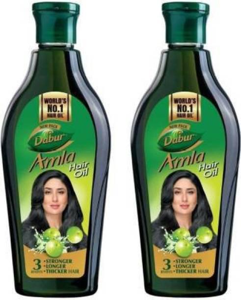 Dabur Amla Hair Oil for Long, Healthy and Strong Hair, 450 ml (Pack of 2) Hair Oil (900 ml) Hair Oil