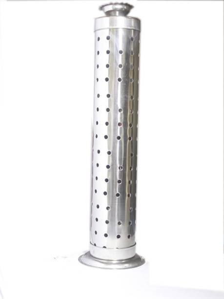 PRAPTI STAINLESS STEEL AGARBATTI STAND WITH DHOOP/ DEEP DANI Steel Incense Holder