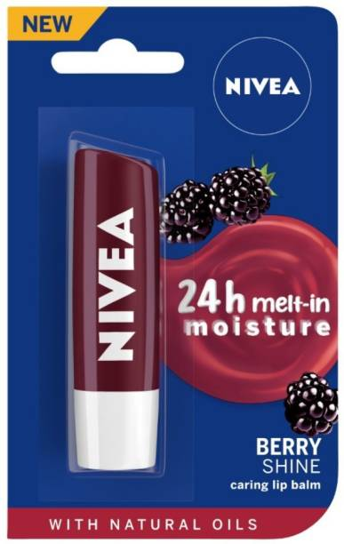 NIVEA Shine Caring Lip Balm Berry Shine