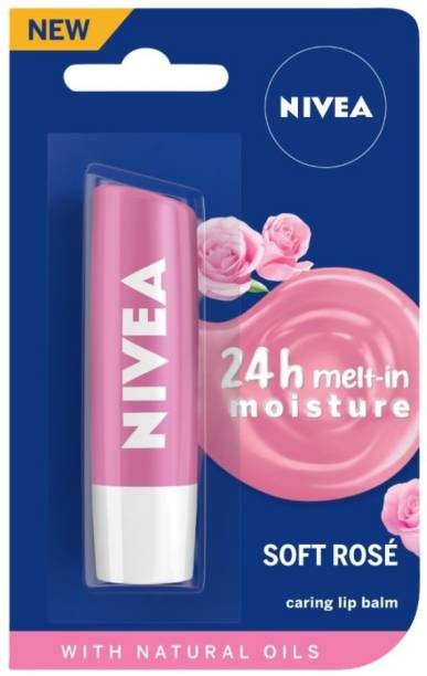 NIVEA Caring Lip Balm Soft Rose
