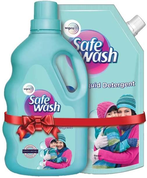 WIPRO SafeWash For Woolens Liquid Detergent Like Sweater, Jackets Pack Of 2 Multi-Fragrance Liquid Detergent